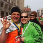 Finish line at the 2011 Boston Marathon